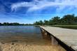 Zalew, jezioro z molem w Miliczu.