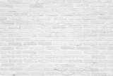 Fototapeta Kamienie - White grunge brick wall texture background