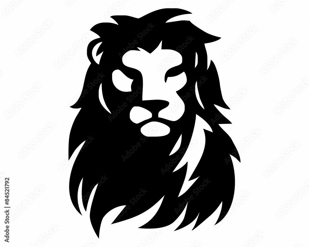 Fototapeta black lion head