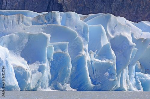 Deurstickers Poolcirkel Blue Ice on a Sunny Day