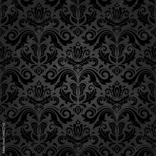 Tapeta czarna  damask-seamless-vector-pattern