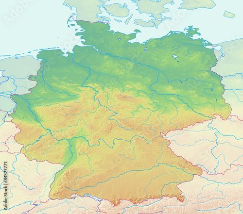 Karte Von Deutschland Ohne Beschriftung Buy This Stock