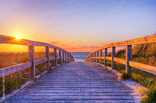 Poster Strand Strandbild Wasser Ostsee