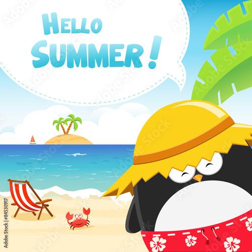 Stampa su Tela  Summer Penguin