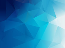 Abstract Low Poly Blue Background