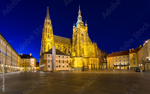 Fotografie, Obraz  Night view of gothic St