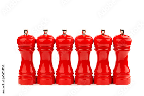 Fotografía  red pepper mill isolated on white background