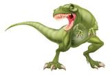 Fototapeta Dinusie - T Rex Dinosaur Illustration