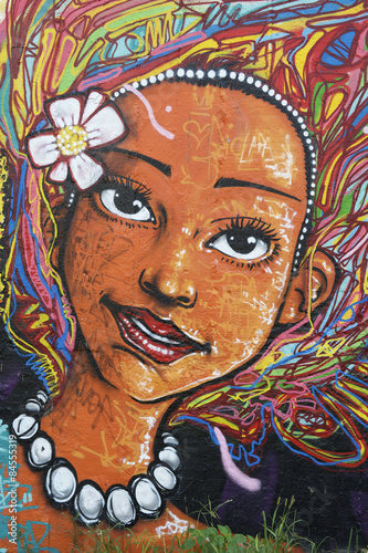Brazilian Woman Street Art Graffiti Poster