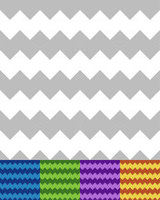 Geometric Pattern(s) With Zigzag Lines. Seamlessly Repeatable. S