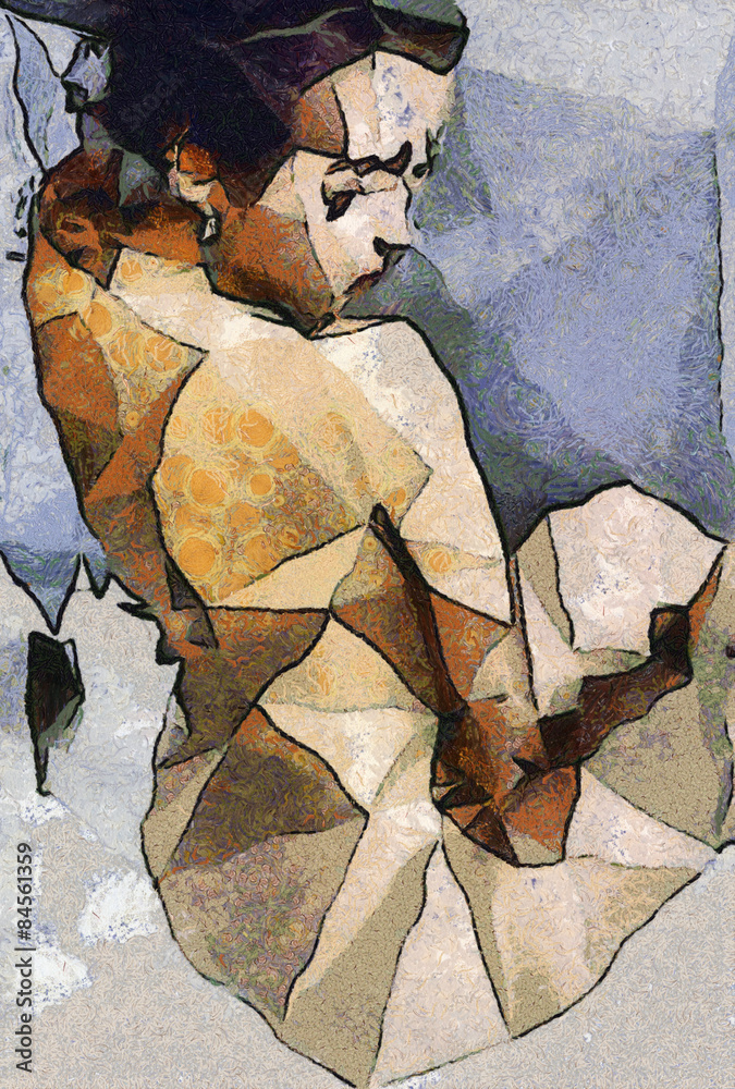 abstract paintings of women