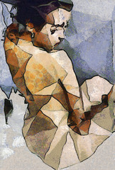 Fototapeta Abstrakcja abstract paintings of women