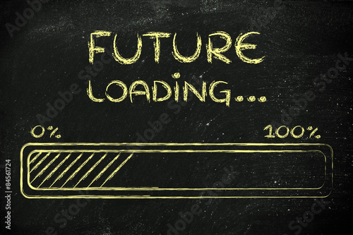Fotografie, Obraz funny progress bar with future loading