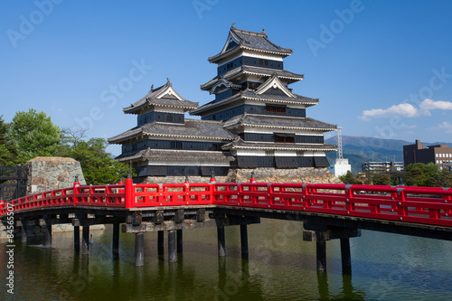 Photo sur Toile Con. Antique Matsumoto Castle , One of Japan's premier historic castles