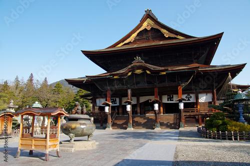 Foto op Aluminium Temple 善光寺本堂