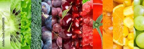 Poster Fruit Fruit and vegetable background