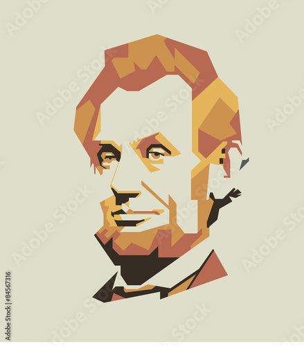 Photo  Abraham Lincoln vector portrait