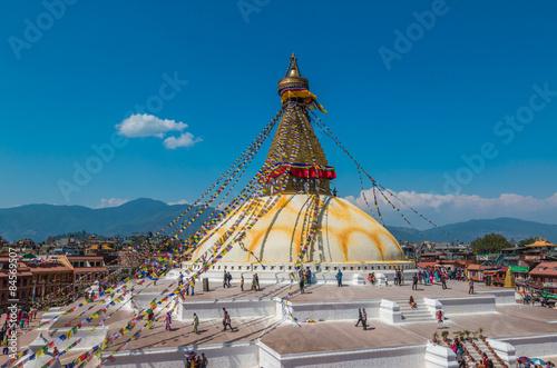 Fotografie, Obraz  Bouddhanath Temple in Kathmandu Nepal