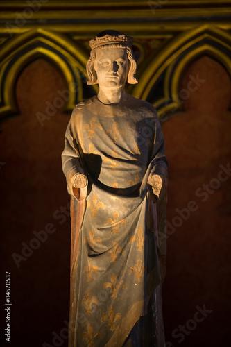 Fotografía Paris - Sainte Chapelle. Statue of Louis IX  King of France
