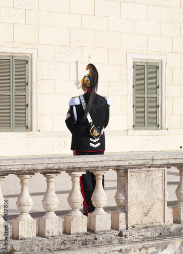 Photo  Corazziere - guardia d'onore presidenziale italiana