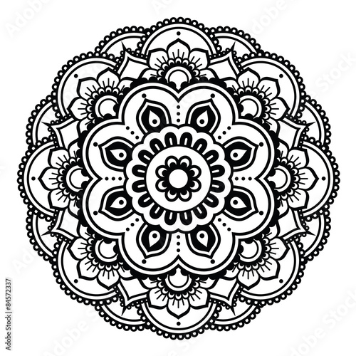 Indian Henna Tattoo Pattern Or Background Mehndi Design Buy This