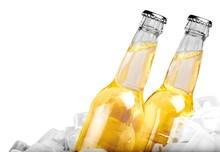 Beer, Beer Bottle, Ice.