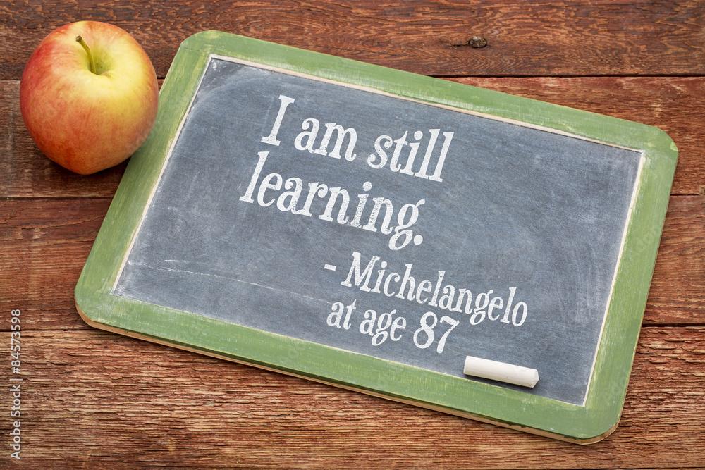 Fototapeta I am still learning - continuous education