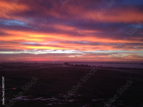 Foto op Plexiglas Crimson South Dakota Sunset