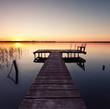 Seenlandschaft und Steg