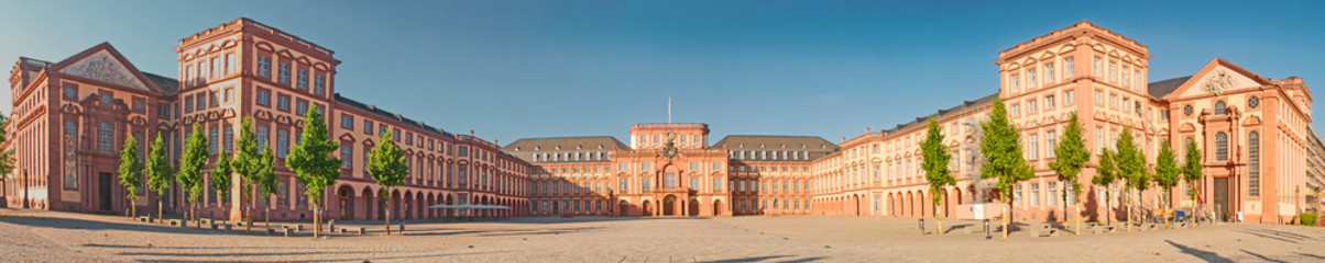 Fototapeta na wymiar Das Mannheimer Schloss