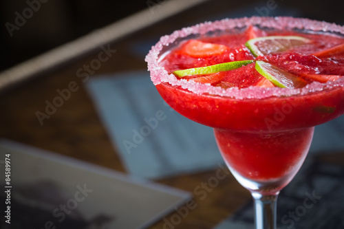 Fotografie, Obraz  Strawberry margarita cocktail
