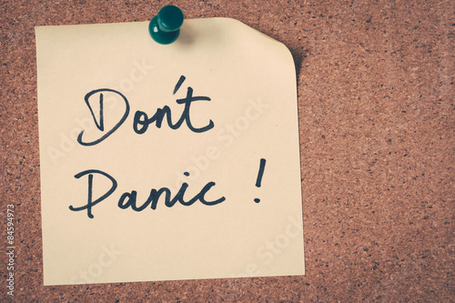 Fotografía  Don't Panic