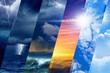 Leinwandbild Motiv Weather forecast