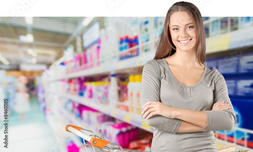 In de dag Apotheek Supermarket, Shopping, Women.