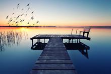 Abendliche Idylle Am See