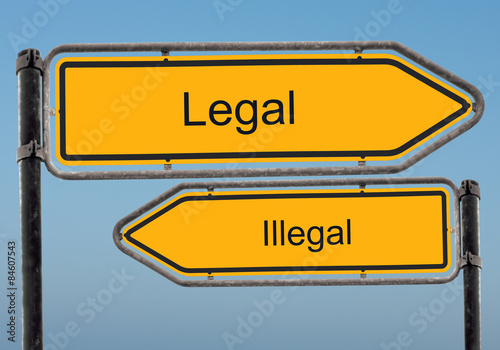 Fotografía  Strassenschild 39 - Legal