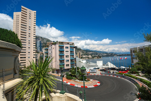 In de dag F1 Monte Carlo, Monaco - 02 June 2014. Circuit de Monaco is a stree