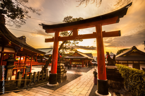 Garden Poster Japan Fushimi Inari Taisha Shrine in Kyoto,