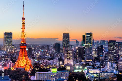 Poster Tour Eiffel Tokyo, Japan.