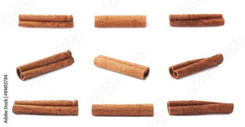 Fotografía Multiple single cinnamon sticks