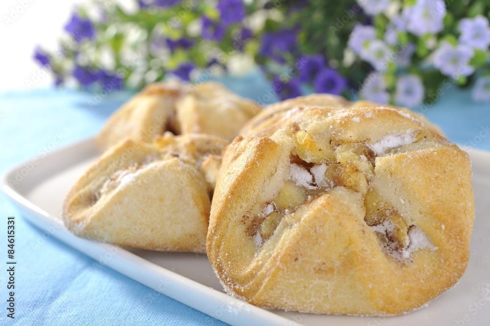 Obraz ciasto z jabłkami fototapeta, plakat
