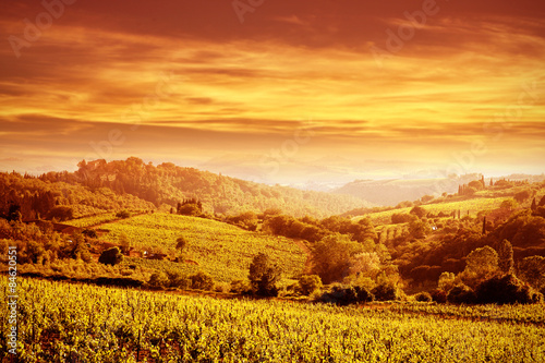 Deurstickers Oranje eclat sunset