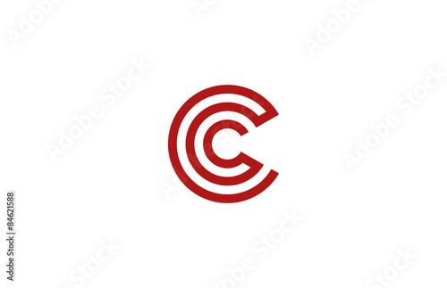 Letter C Logo vector alphabet design element template. ABC conce