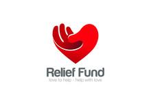 Heart Hand Logo Relief Fund Ve...