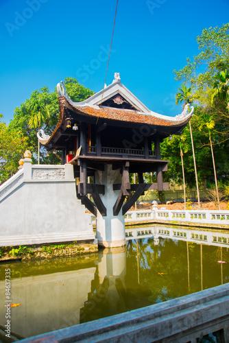 One Pillar pagoda in Hanoi, Vietnam