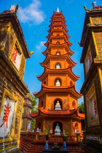 Hanoi vietnam  Tran Quoc Pagoda - Hanoi, Vietnam.it's a famous tourist destination in hanoi, vietnam