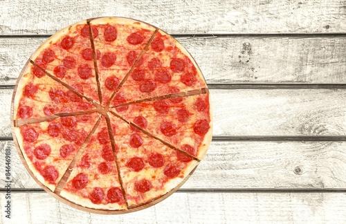 Photo  Pizza, Portion, Division.