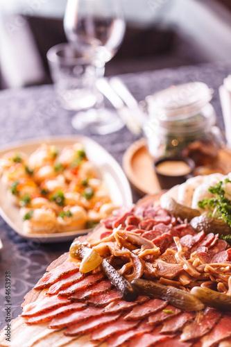 Autocollant pour porte Pique-nique catering food