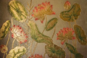 FototapetaGold leaf painting
