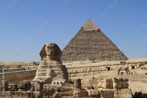 Egypt Die Pyramiden und Sphinx von Gizeh in Ägypten